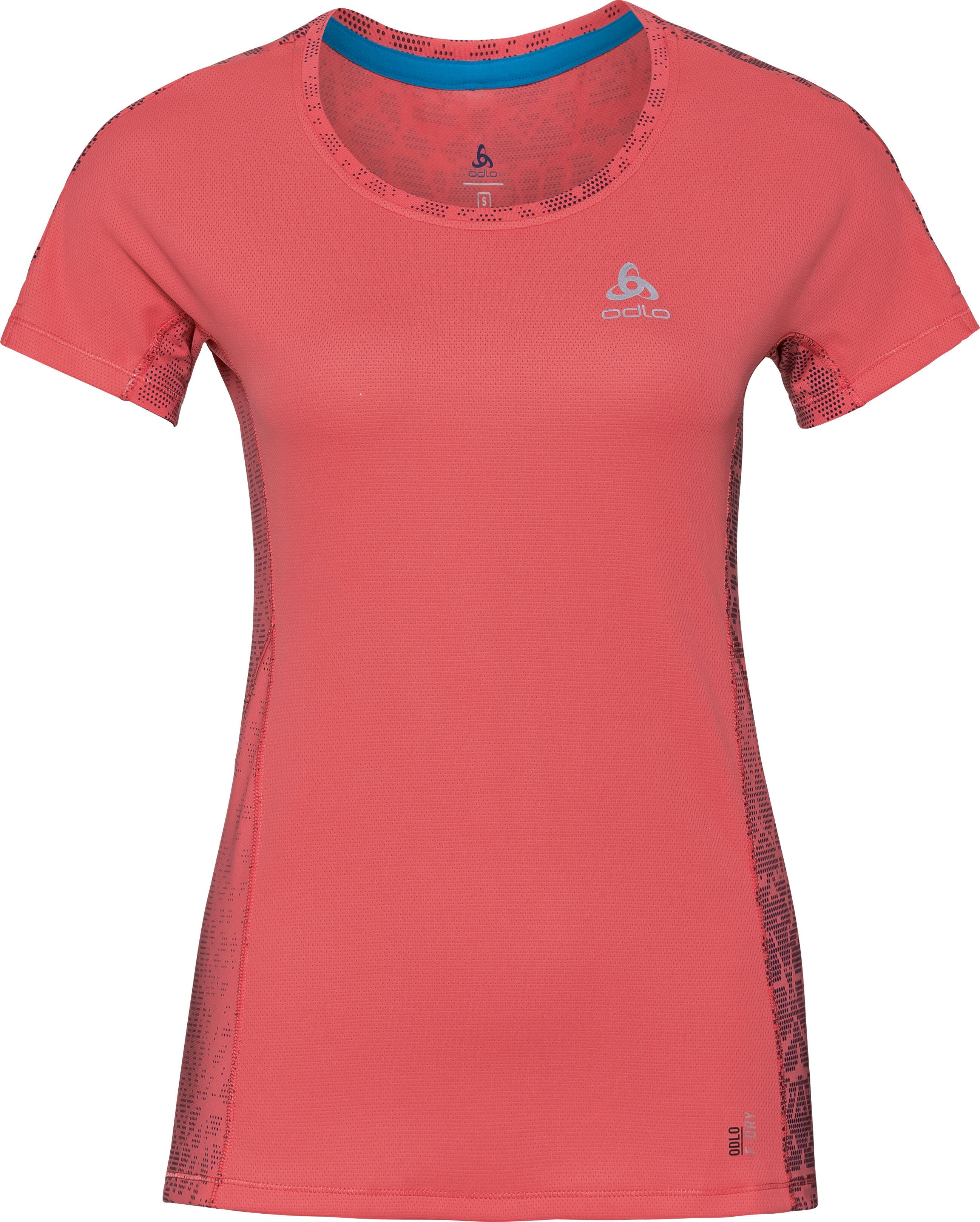 6e877a20c0885c ▷ Odlo Omnius Print Crew Neck SS Shirt Women dubarry-AOP SS18 ...